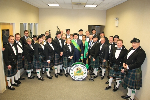 Grand Marshal Alderman Patrick OConnor Parade 2018 at Plumbers Hall CB&C Dinner.jpg