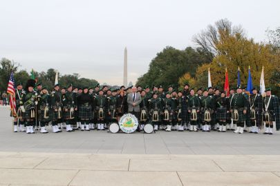 Band group pic on the Mall 2