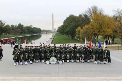 Band group pic on the Mall